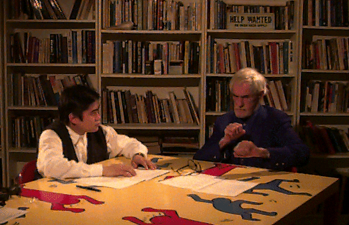 Joi Ito with Timothy Leary at Tims home in 1995.